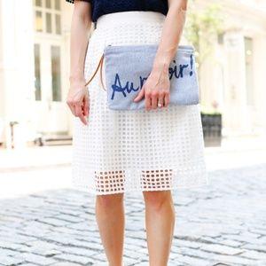 LOFT | White Eyelet Skirt - NWT